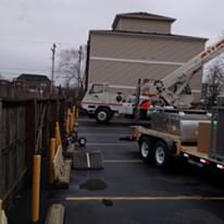 Commercial HVAC lift