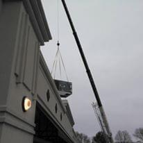 Commercial RTU lift in Champaign